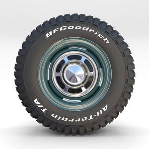 wheel goodrich tire 2 model