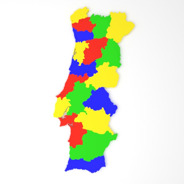 portugal district state 3D