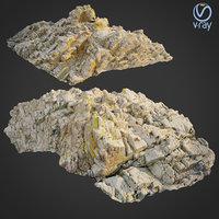 scanned rock cliff m2 3D model