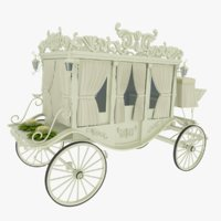 3D model wedding carriage