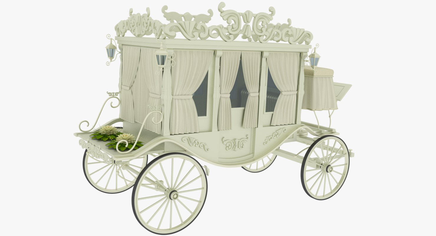 3D model wedding carriage