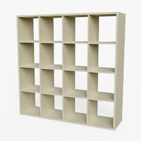 3D model bookshelf ready pbr -