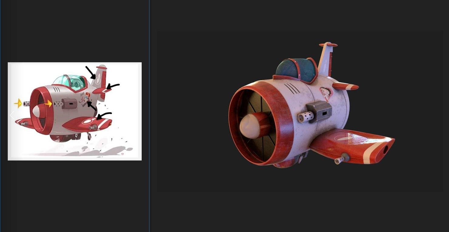 3D toy plane