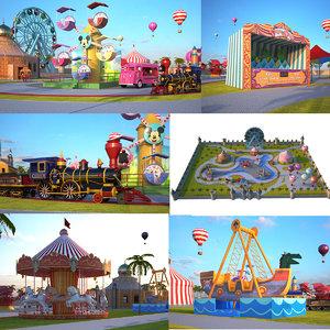 theme park 3D