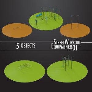 3D street workout equipment 01