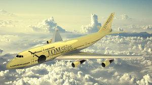 blender airplane 3D model