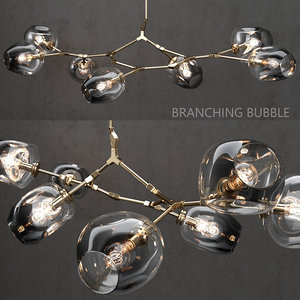3D branching bubble 7 lamp model