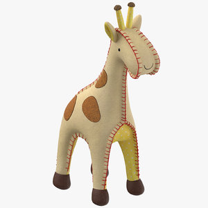 3D model stuffed giraffe
