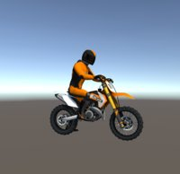 Low Poly Dirt Bike With Rider-1