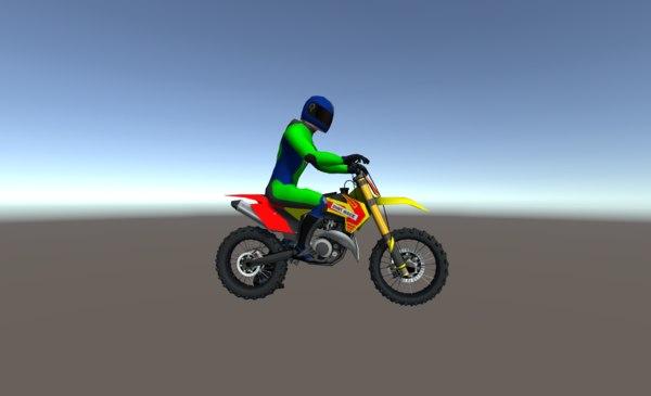 3D dirt bikes