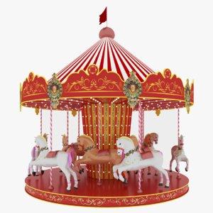 horse carousel 3D model