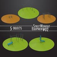 3D street workout equipment 02