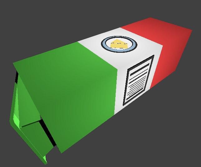 3D model box italian cheeses