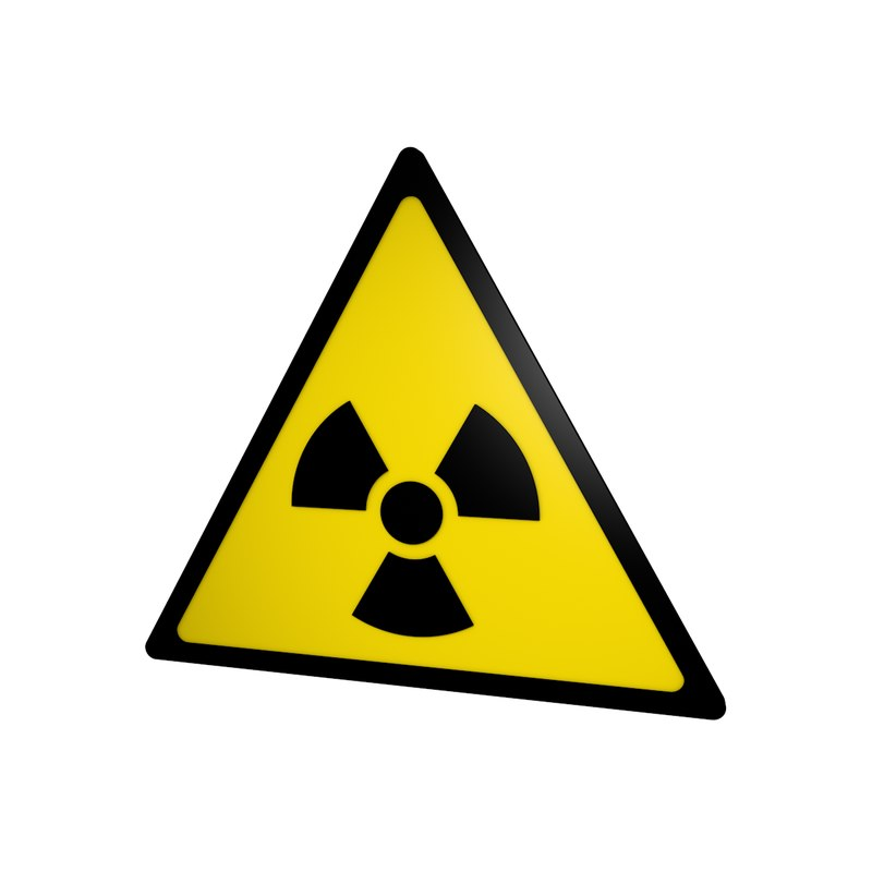 3D radiation sign