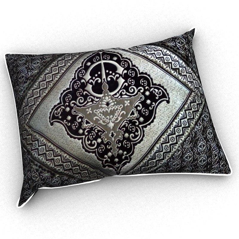 moroccan pillow 3D model