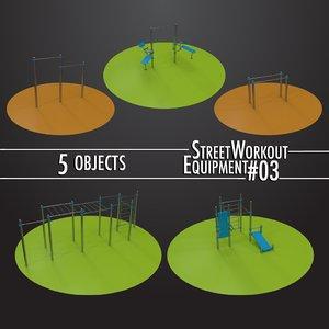 street workout equipment 03 3D
