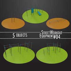 street workout equipment 04 3D model
