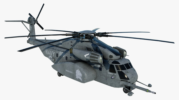 3D military helicopter mh-53e sea model