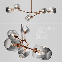 branching bubble 5 lamps 3D model