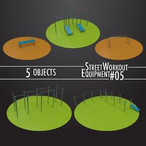 3D model street workout equipment 05