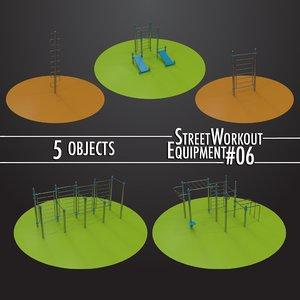 street workout equipment 06 3D