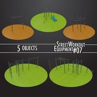 3D model street workout equipment 07