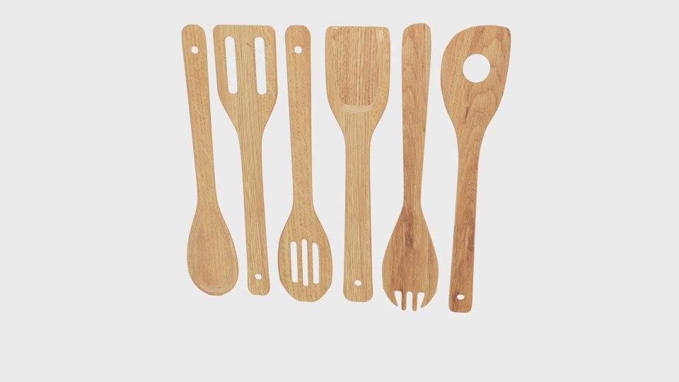 3D bamboo set cooking utensil