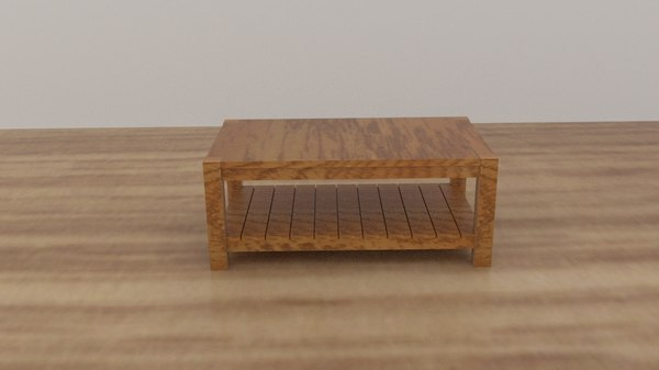 3D edgewood square coffee table model