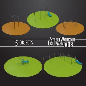3D street workout equipment 08 model