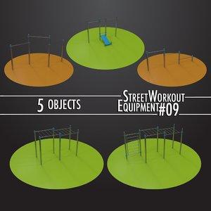 3D street workout equipment 09