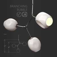 3D branching bubble 3 lamps