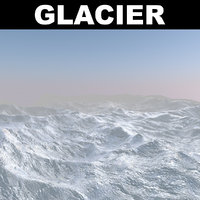 3D glacier terrain polar model