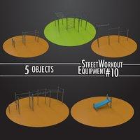 street workout equipment 10 3D model