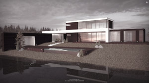 3D studio weekend house architecture