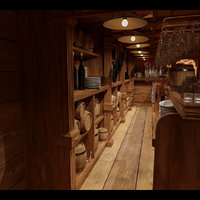 stylized saloon set 3D model