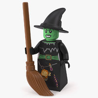 lego witch minifigure 3D model