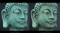 vintage buddha head 3D model