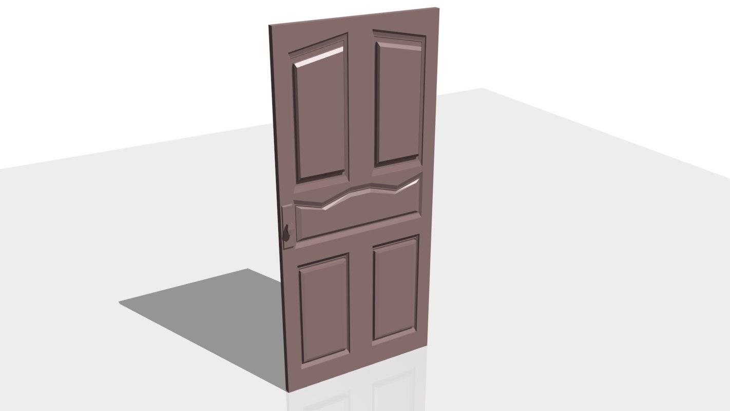 3D model door blender
