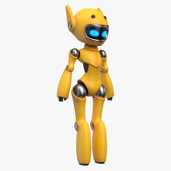 cute robot yellow model
