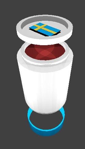 3D jar lingonberry jam