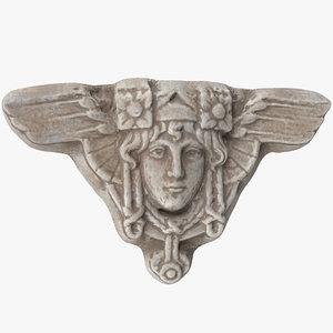 3D bas relief face model