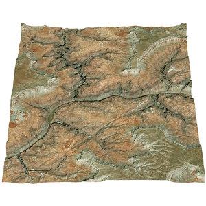 canyon river 3D model