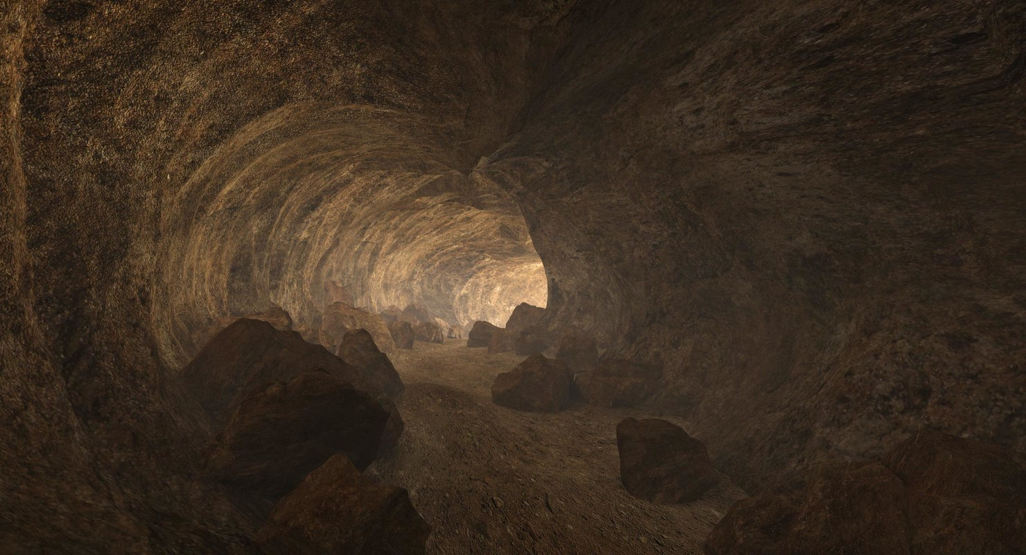 3D cave tunnel rocks model