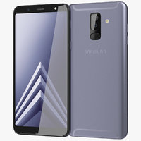 3D realistic samsung galaxy a6 model