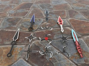 shurikens kunai 3D model