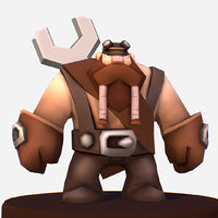 Handpaint Cartoon Gnome Master Character