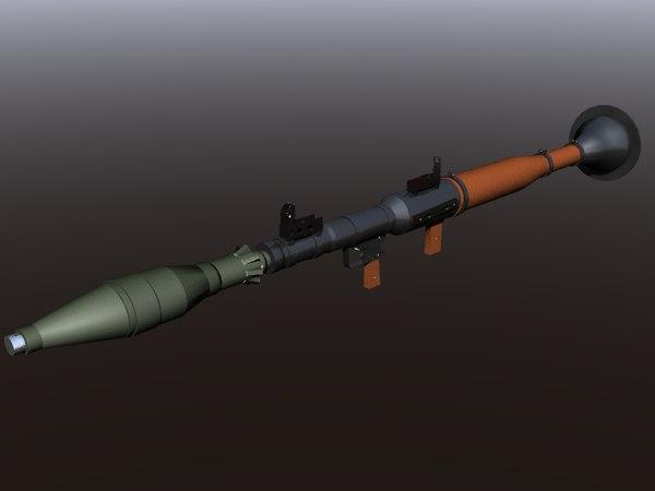 rpg gun rpg-7 3D