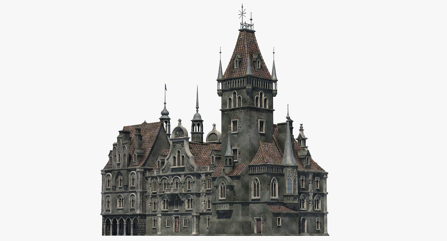 3D gothic house 03 build model