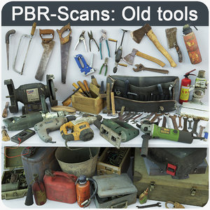 3D old tools model