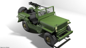 3D armoured car jeep model